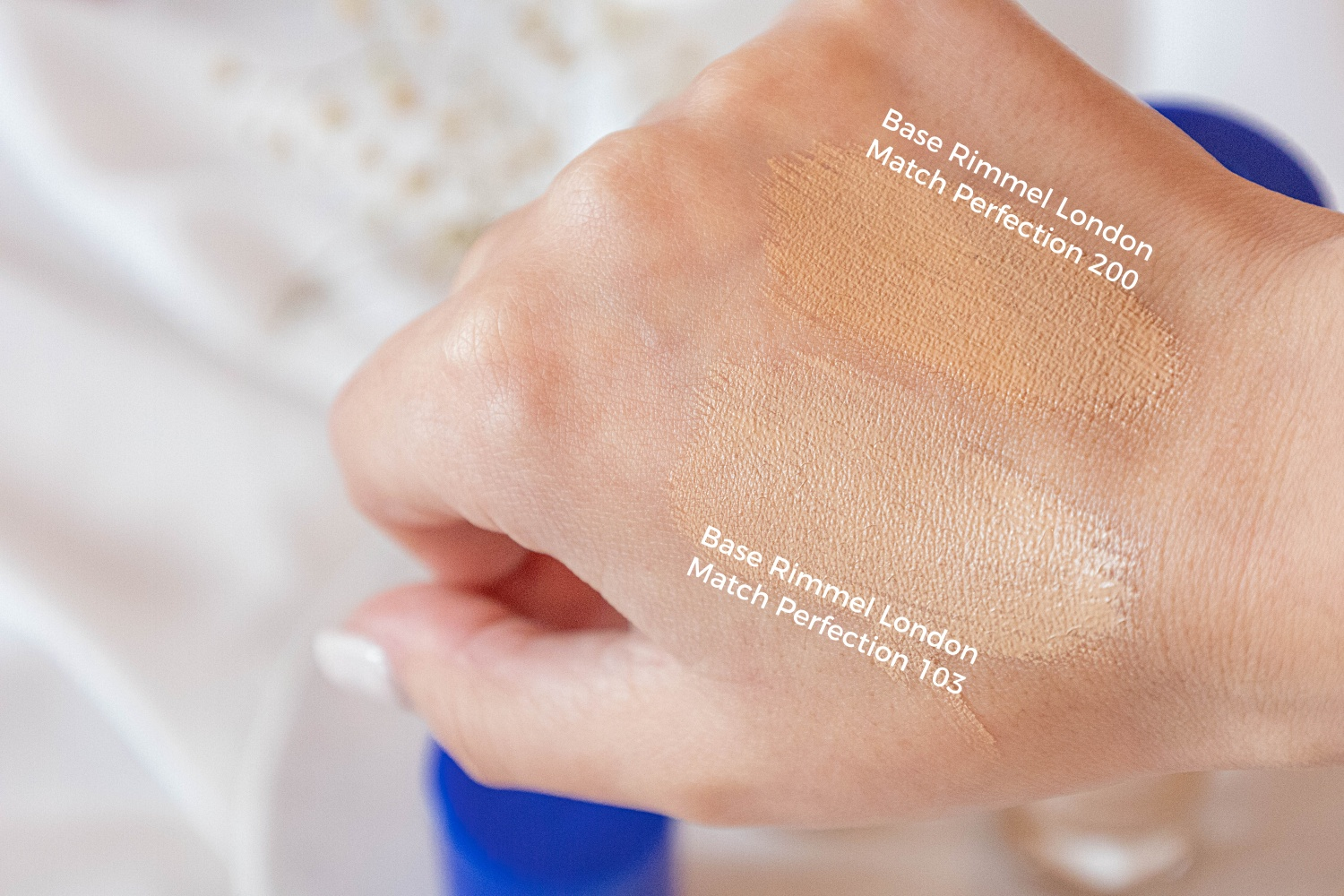base Rimmel London Match Perfection swatches 103 200